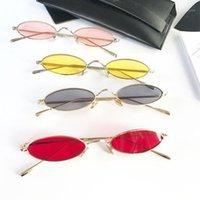 Güneş Gözlüğü Klassnum Retro Küçük Oval Kadınlar Kadın Vintage Hip Hop Balck Gözlük Sunglass Lady Gözlük1
