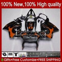 Bodywork pour Honda VFR800R Intercepteur VFR800 98 99 2000 2001 99HC.103 Orange Flammes VFR800R VFR 800RR 800R 800 RR 1998 1999 00 01 Full carénage