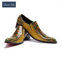 Обувь платье Кристиа Белла Британский стиль моды мужская натуральная кожа мужчины вечеринка и свадебные мокасины летом дышащие квартиры1