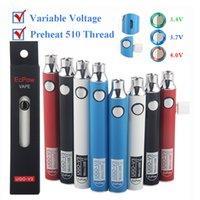 UGO-V3 Vape Pen Battery 900mAh 650mah Adjustable Voltage 510 thread Preheat Battery Vaporizer E Cigarettes Battery USB Cable Custom Made