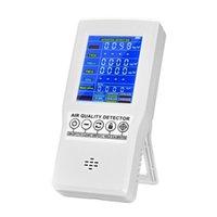 Purificadores de ar Monitor de qualidade Preciso testador para CO2 Formaldeído (HCHO) TVOC PM2.5 / PM10 Detector de gás multifuncional profissional1