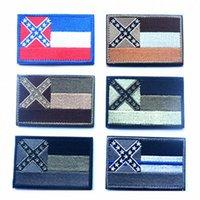 Bandera del estado de Mississippi Brazalete Brazalete hombro Moral etiqueta engomada del emblema militares de la táctica emblema del partido insignias de la bandera favor IIA361 55Ea #