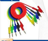 El multímetro de alambre de enchufe de color puro se puede conectar a domicilio, gadget, plátano, plátano, enchufe de plátano a la línea de prueba de clip de cocodrilo nueva llegada 4 6lq J2