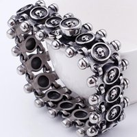 Punk Rocker Skull Bracelet For Men Quality Stainless Steel M...