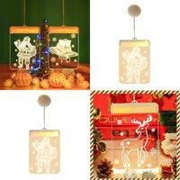 LED 실내 크리스마스 램프 문자열 눈송이 산타 클로스 엘크 모양 크리스마스에 장식 컬러 조명 새로운 도착 9cy의 J2