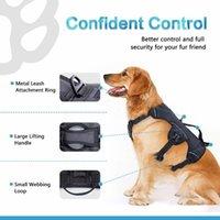 Щань-жопуя жопуя жгута собаки нет тяги Регулируемый светоотражающий ходьба Животный жилет жгут для большой собаки жгут для обучения lj201202