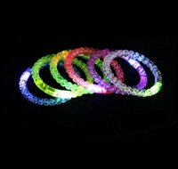 Braccialetto a LED Light Up Braccialetto incandescente Braccialetto di cristallo per DROCO Party Concert Prop Christmas Halloween Decorati Jllcml MX_Home