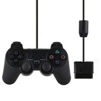 Mando PS2 / PS2 조이스틱 용 Sony PS2 컨트롤러 용 유선 Gamepad 2 진동 충격 조이 패드 유선 Controle Y0114