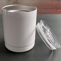 Tasse de café de sublimation vierge de 10oz Sublimation Blanc Sublimation Coupe de voiture 10oz Table à vin Tobe à vin Double mur en acier inoxydable
