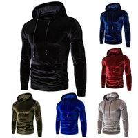 Heren Hoodies Sweatshirts Heren Herfst Winter Verwarmd Losse Fleece Jas Plus Size Voor Mannelijke Gouden Fluwelen Glanzende Hoodie Hoge Kwaliteit Tops