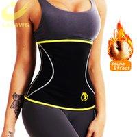 LAZAWG Mulheres cintura instrutor Hot Neoprene Belt Sauna Suor Cincher Slimming Strap Shaper Corpo Controle Tummy Fajas Queima de Gordura Corset