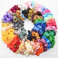Multicolor Damen Seide Scrunchie Elastische Handgemachte Haarband Pferdeschwanzhalter Stirnband Zubehör Top Qualität