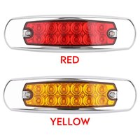 Vehemo 2020 تحذير ضوء شاحنة مقطورة 12LED مصباح الضوء الجانبية لاقط كامبر RV DC12-24 السيارة الحمراء للماء