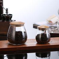 زجاجات تخزين الإبداعية زجاج الحلوى الجرار مع غطاء الفلين السكر القهوة حاوية المطبخ المنظم التوابل tools1