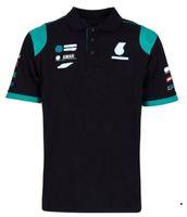 Fórmula One Equipe Poliéster Quick-Secagem Nova Manga Curta Lapela T Shirt Polo Camiseta Poliéster Quick-Seca pode ser personalizado