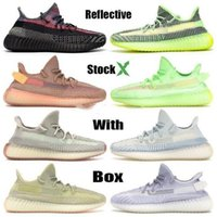 2020 New Kanye West Yecheil Yeezreel Refelective Noir statique réfléchissant nuage blanc Citrin Lundmark Antlia Synth Belgua Zebra chaussures Bred