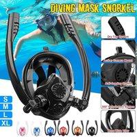ПК силиконовые двойные трубки маска для дайвинга маска подводное мнение подводное антитуманное противотуманное подводное плавание женщины плавание плавание плавание плавание