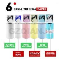 Принтеры 58 * 30 мм Белый цвет Тепловой бумаги этикетки наклейки PO для PeriPage A6 A8 Paperang P1 P2 Pocket Mini Printer1