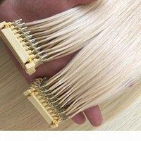 뜨거운 판매 150g 300strands 미리 보세 유럽 6D 머리 확장 16 18 20 22 24inch 브라질 유럽 인간의 머리카락 확장