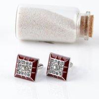 أزرار أكمام المينا الماس الزفاف بدلة الأعمال كم زر صفعة الكفة للرجل الأزياء والمجوهرات سوف والرمل
