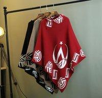 ücretsiz gönderim kazak 2020 yeni moda yarasa gömlek üst pelerin kazak örme şal kat