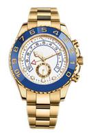 Clássico automático ouro relógio mecânico tamanho 44mm anel de cerâmica rotativo movimento de enrolamento automático 316 fino relógio de aço esportes masculinos mec