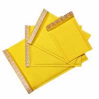 100pcs Bubble Busta Bubble Pack Bank Express Bag Giallo imballato GRANDED Bust Bust Bust