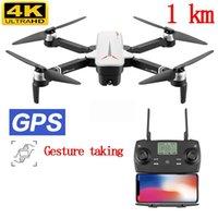 الطائرات بدون طيار طبقة الطائرات بدون طيار 4K 1KM طويلة المدى Profisional مصغرة مع كاميرا HD RC هليكوبتر Selfie dron quadcopter التدفق البصري فرش