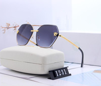2020 Runde Metall Sonnenbrille Designer Eyewear Gold Flash Glas Objektiv für Herren Womens Spiegel Sonnenbrille Runde Unisex Sun Glasse