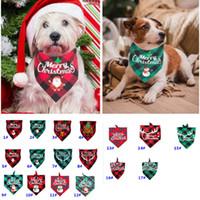 عيد الميلاد مناديل للكلاب منقوشة الحيوانات الأليفة باندانا للS M L الكلاب الحيوانات الأليفة وشاح مثلث المرايل المنديل سانتا ثلج طباعة الحيوانات الأليفة باندانا HH9-3575