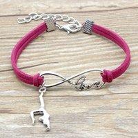 Infinity Love Gymnastics Charme Suisse En Cuir Bracelets Chaud Rose Rouge Cadeaux Noir Pour Femmes Hommes Sports Bracelets Bijoux