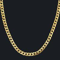 Kubanische Verbindung Kette Halskette Silber / Gold Kette Für Männer Schmuck Corrente de Prata Masculina Miami Herren Halskette
