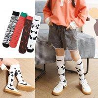 Moda zebra crianças meias de algodão longos crianças meias crianças Casual malha meias altas joelho meninas atléticas meias esportes meias 3-12Y atacado
