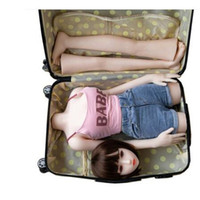 Female Solid silicone inflatable mannequin body Suitcase clo...
