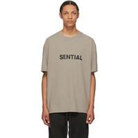 20SS FG Hommes Femmes T Lettre classique Imprimer solide T-shirt respirant simple Casual été à manches courtes High Street Outdoor Tee HFYMTX969