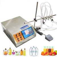 GZL-80 Control digital eléctrico líquido de la bomba de manguera de 4 cabezales de llenado del perfume Máquina jugo del agua esencial 0.5-50ml Aceite Bebidas