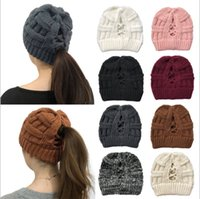 Women Winter Knitted Beanie Faux Fur Cap Pom Ball Crochet Hats Knitted Hat Skully Warm Ski Trendy Soft Thick Caps