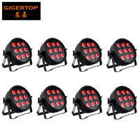 9x6w Siyah Alüminyum LED Par 60 W RGBWA UV 6in1 LED Par Can Par 64 LED Spot Işık DJ Projektör Duvar Yıkama Kapalı Alışveriş Merkezi Sahne Işığı
