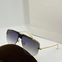 0724 Yeni stil mens güneş gözlüğü moda klasik kare yarım çerçeve UV koruması mercek popüler yaz tarzı en kaliteli Gönder kutusunu güneş gözlüğü