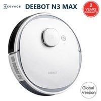 Aspirateurs Version globale Ecovacs Deeebot N3 Max Laser Robot Nettoyant avec MOP Home Nettoyage Support Alexa Google App Control vocal