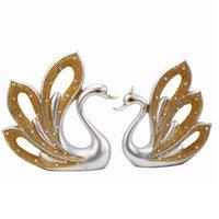Objets décoratifs Figurines Résine Crafts Modern Simple Swan Ornements Accueil Décoration Cadeaux De Mariage Couple Mobilier Miniature Premium