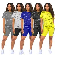 Fashion Women Shorts Tracksuit CHAMP Letter Print Summer Sho...
