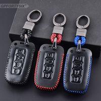 Capa de controle remoto de couro genuíno capa chaveiro para Kia Forte / KX3 4Buttons Chave inteligente L831 Acessórios Automóveis