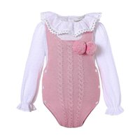 Pettigirl Cute Baby Bodysuit And White Blouse Pink Baby Romp...