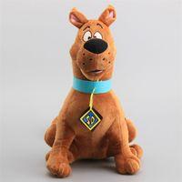 Büyük Boy 35 cm Scooby Doo Köpek Peluş Oyuncaklar Karikatür Yumuşak Dolması Hayvanlar Childeren Hediye 201215