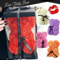 روز تيدي بير جديد عيد الحب هدية 25 سنتيمتر زهرة الدب الديكور الاصطناعي هدية عيد الميلاد للنساء عيد الحب هدية