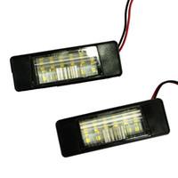 لوحة ترخيص 2PCS أضواء السيارة من البلاستيك لنيسان كاشكاي X-تريل جوك الدوري مشرق بقيادة عدد الخفيفة لوحات السيارات