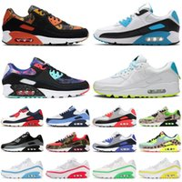 90 orange camo 90s men women running shoes Laser Blue triple black white infrared mens womens trainers sports sneakers runners size 36-45