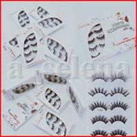 3D Nerz Wimpern 5Pairs natürliche lange 5D Nerz Wimpern Hand falsche Wimpern voller Streifen aus Wimpern Make-up falschen Wimpern