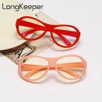 LongKeeper Anti blue Light Glasses Kids Soft Frame Oval Optical Eyeware Children Boys Girls Computer Clear Lens Eyeglasses UV400